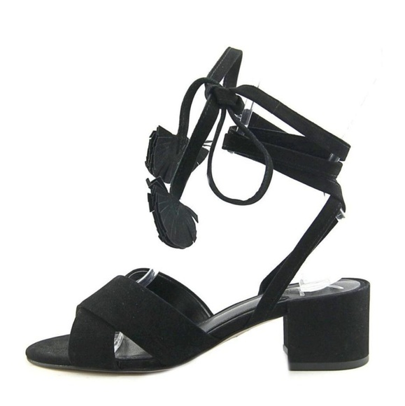 Brian Atwood Shoes - Brian Atwood black suede lace up gladiator sandals